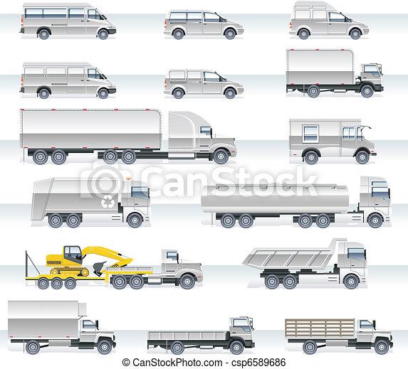 ベクトル, セット, 交通機関, アイコン - csp6589686