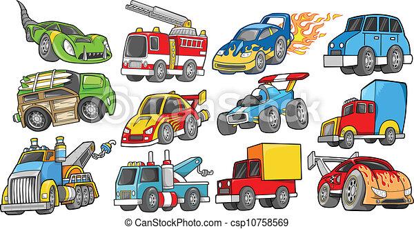 ベクトル, セット, 交通機関, 車 - csp10758569