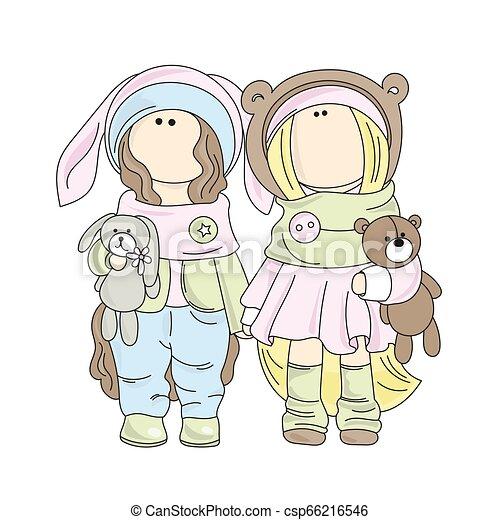 ベクトル セット 人形 イラスト ゲーム Tilda 女の子 漫画 人形 セット 生地 人形 Decoration イラスト 漫画 Tilda ゲーム ベクトル 女の子 休日 印刷 人形