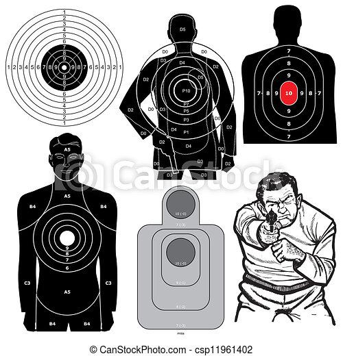 ベクトル, セット, 射撃目標, 6 - csp11961402