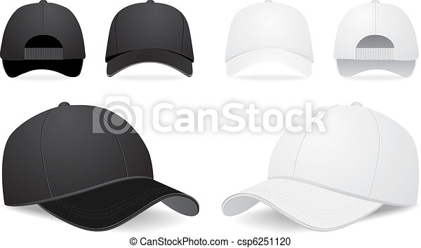 ベクトル セット 帽子 野球 帽子 イラスト ベクトル 野球 背景 白