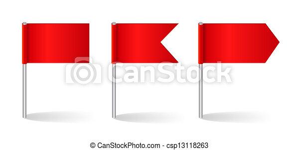 ベクトル, セット, 旗, イラスト - csp13118263