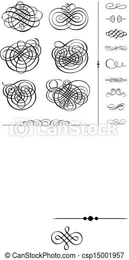 ベクトル, セット, 装飾, 空想 - csp15001957