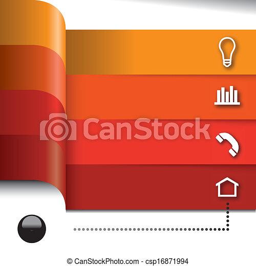 ベクトル, セット, 要素, infographics - csp16871994