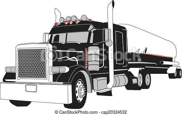 ベクトル, タンカー, 半 - csp20324532