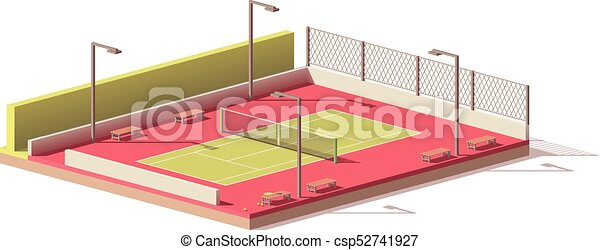 ベクトル, テニスコート, 低い, poly - csp52741927