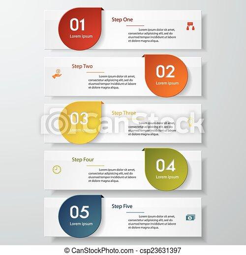 ベクトル, デザイン, 数, きれいにしなさい, テンプレート - csp23631397