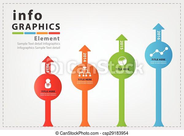 ベクトル, デザイン, infographic, 現代 - csp29183954