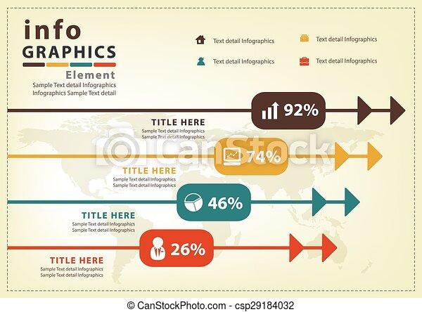 ベクトル, デザイン, infographic, 現代 - csp29184032