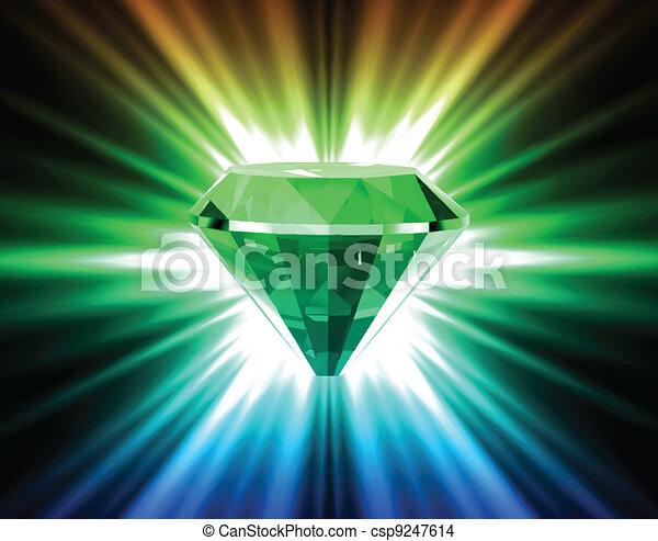 ベクトル, バックグラウンド。, 明るい, ダイヤモンド, カラフルである - csp9247614