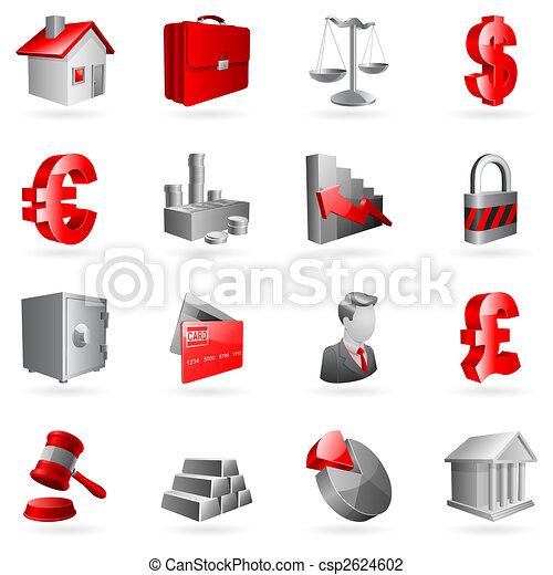 ベクトル, ビジネス, icons. - csp2624602