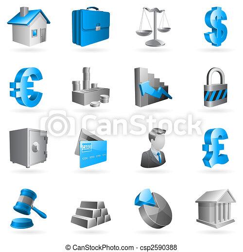 ベクトル, ビジネス, icons. - csp2590388