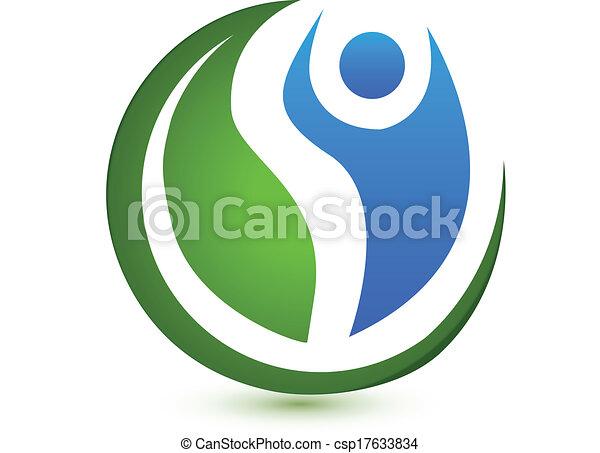 ベクトル, ロゴ, 概念, wellness - csp17633834