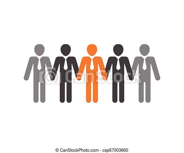 ベクトル, 仕事, グループ, 人々, アイコン - csp67003660