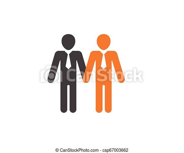 ベクトル, 仕事, グループ, 人々, アイコン - csp67003662