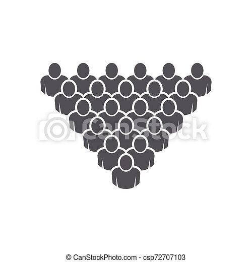 ベクトル, 仕事, グループ, 人々, アイコン - csp72707103