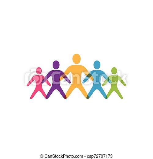 ベクトル, 仕事, グループ, 人々, アイコン - csp72707173