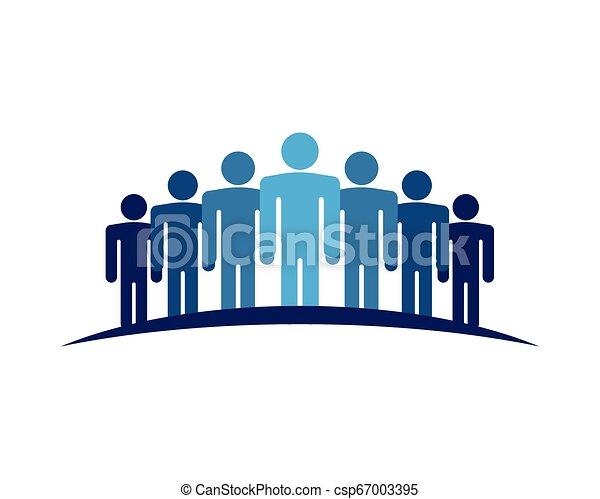 ベクトル, 仕事, グループ, 人々, アイコン - csp67003395