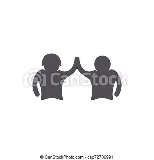 ベクトル, 仕事, グループ, 人々, アイコン - csp72706991