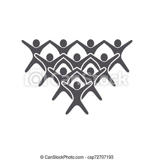ベクトル, 仕事, グループ, 人々, アイコン - csp72707193