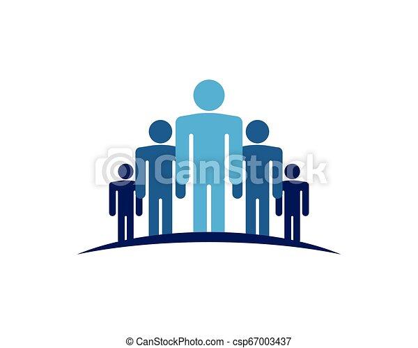 ベクトル, 仕事, グループ, 人々, アイコン - csp67003437