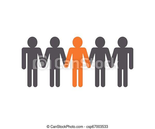ベクトル, 仕事, グループ, 人々, アイコン - csp67003533