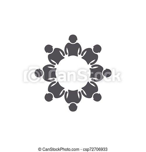 ベクトル, 仕事, グループ, 人々, アイコン - csp72706933