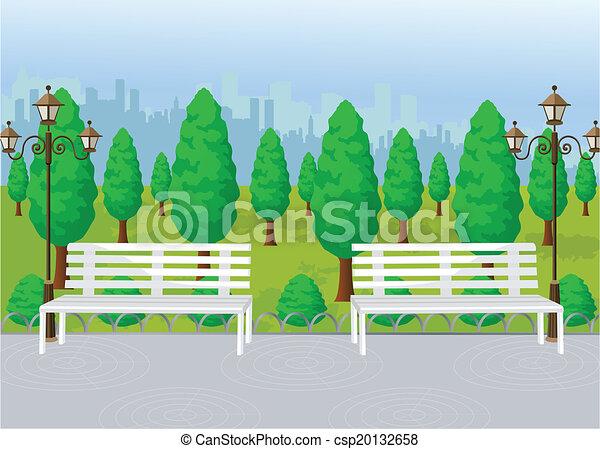 ベクトル, 公園, 光景 - csp20132658