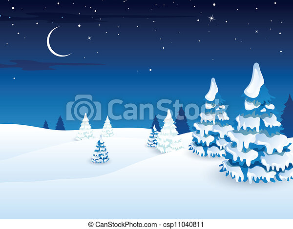 ベクトル 冬の景色 風景 ベクトル 冬 イラスト