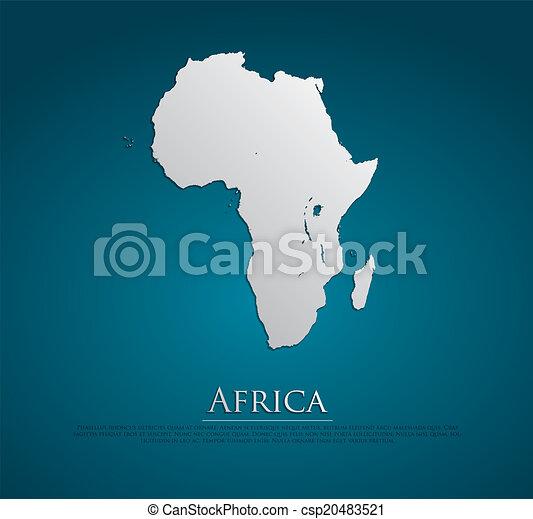 ベクトル, 地図, ペーパー, アフリカ, カード - csp20483521