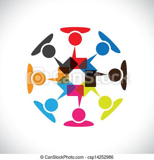 ベクトル, 媒体, 概念, &, コミュニケーション, 相互作用, 社会, graphic- - csp14252986