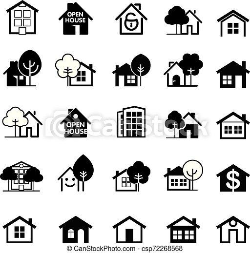 ベクトル, 家, icon., セット, illustration. - csp72268568
