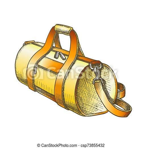 ベクトル, 手荷物, 円筒状である, スポーツ, 色, 袋 - csp73855432