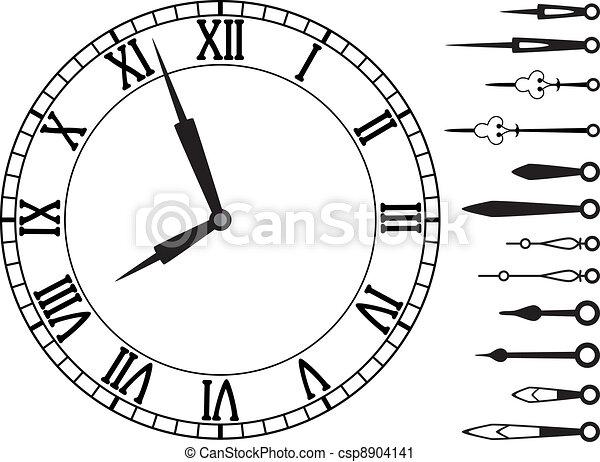 ベクトル, 手, セット, 時計 - csp8904141