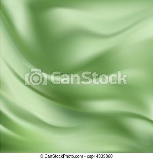 ベクトル, 抽象的, 絹, 緑, 手ざわり - csp14333860