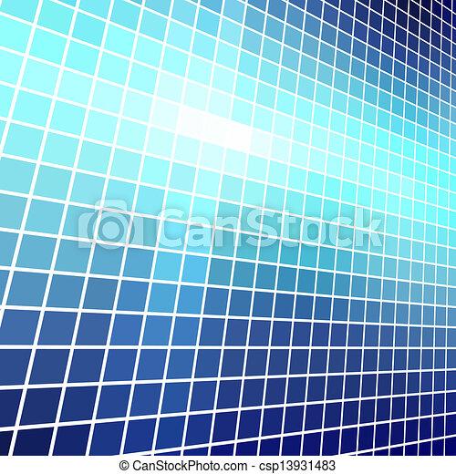 ベクトル, 抽象的, 青いライト, モザイク, バックグラウンド。 - csp13931483