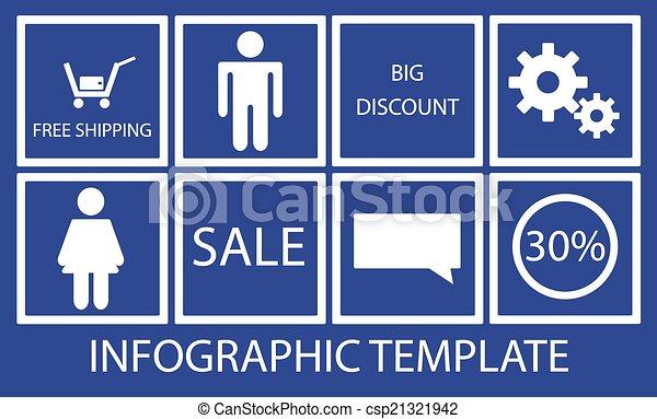 ベクトル, 抽象的, infographic, backgro - csp21321942