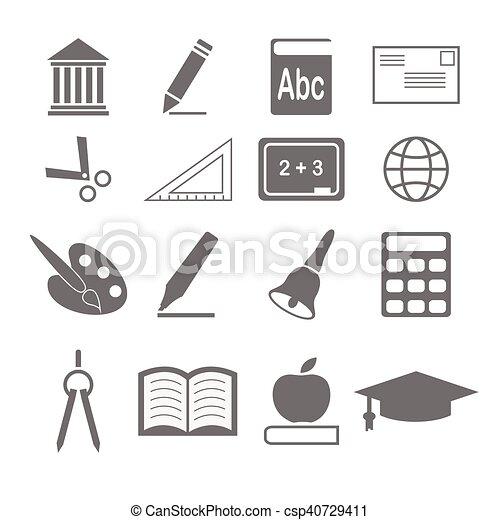 ベクトル, 教育, アイコン - csp40729411