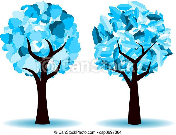 ベクトル, 木の 冬 - csp8697864