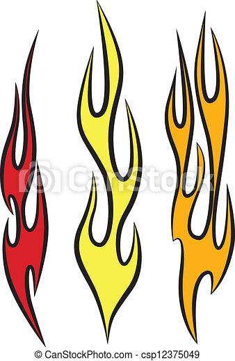 ベクトル, 炎 - csp12375049