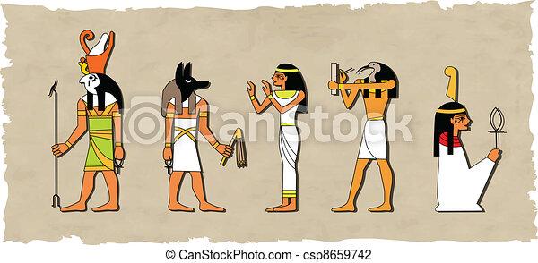 ベクトル, 神, セット, エジプト人 - csp8659742