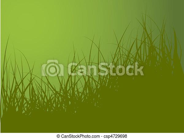 ベクトル, 緑の草, 背景 - csp4729698
