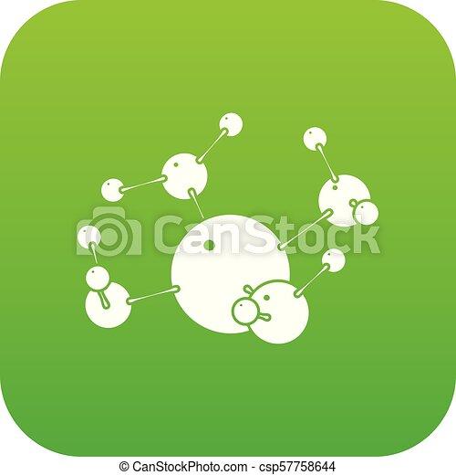 ベクトル, 緑, ブタン, アイコン - csp57758644