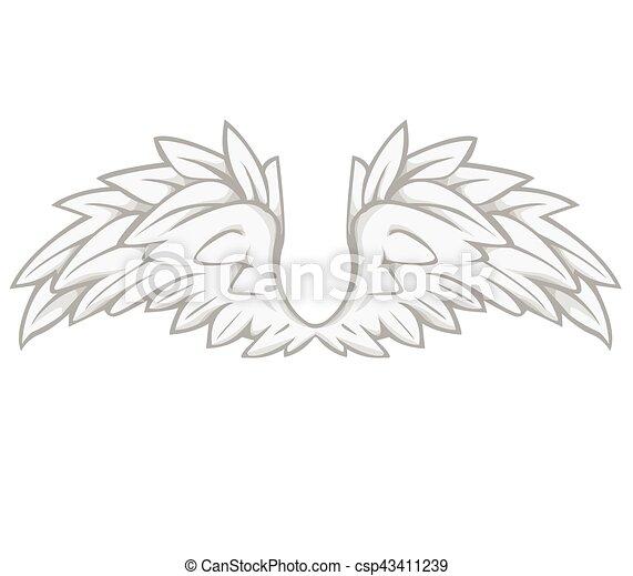 ベクトル 翼 イラスト