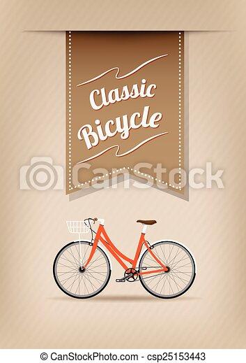 ベクトル 自転車 レトロ イラスト