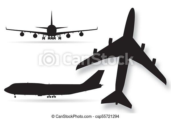ベクトル 航空機 イラスト 隔離された シルエット 背景 飛行機 白
