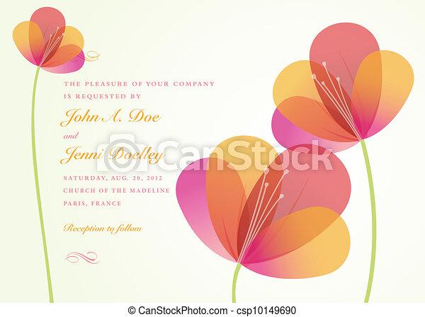 ベクトル, 花, 背景 - csp10149690