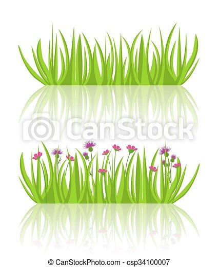 ベクトル 草 イラスト 草 イラスト ベクトル 背景 白い花