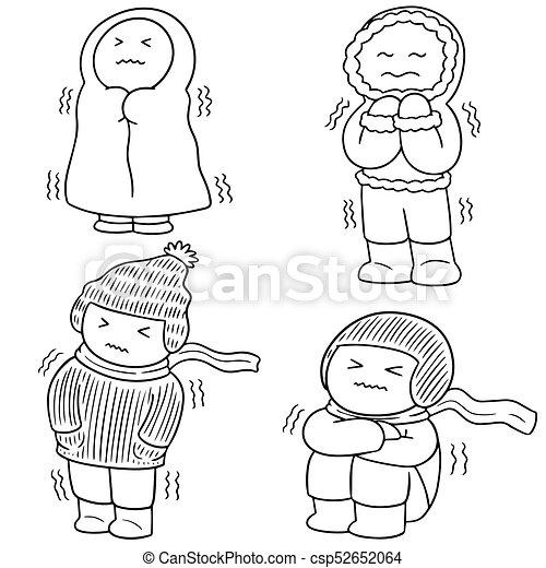 ベクトル, 衣服, セット, 冬, 人々 - csp52652064