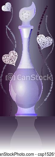 ベクトル, 装飾, illustration., びん, 香水 - csp15261957